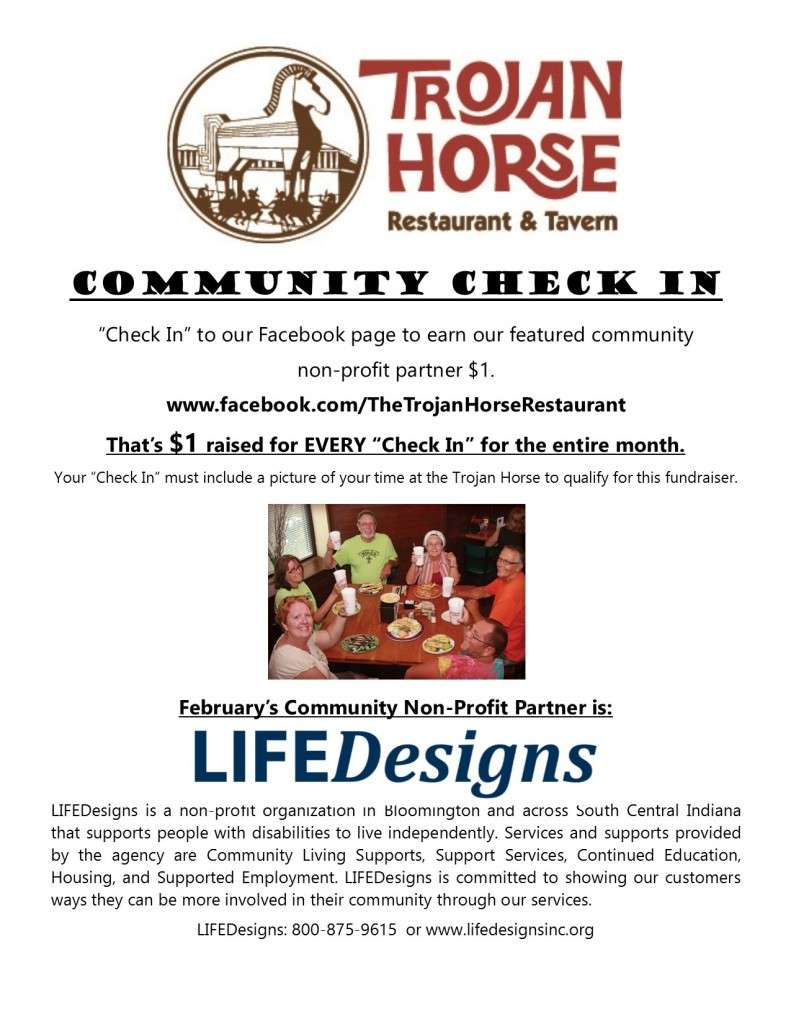 Community Check In LifeDesigns Trojan Horse