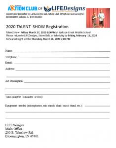 2020 talent show reg. form