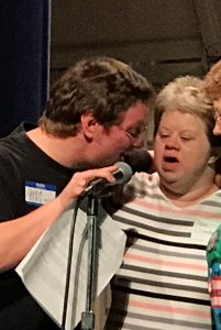 Jan singing with Jake